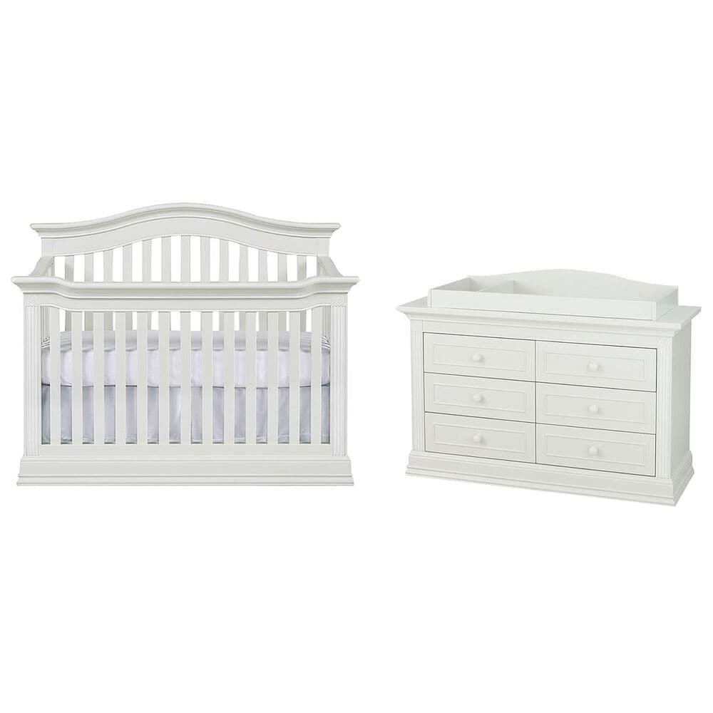 Munire Montana 3 Piece Nursery Set in Glazed White, , large