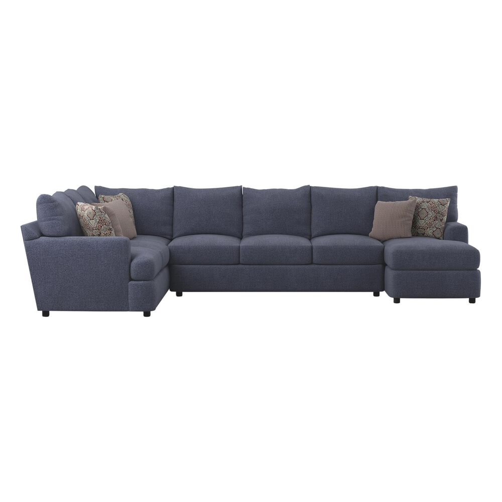 Klaussner Oliver 3-Piece Right Facing Sectional in Jesy Denim, , large