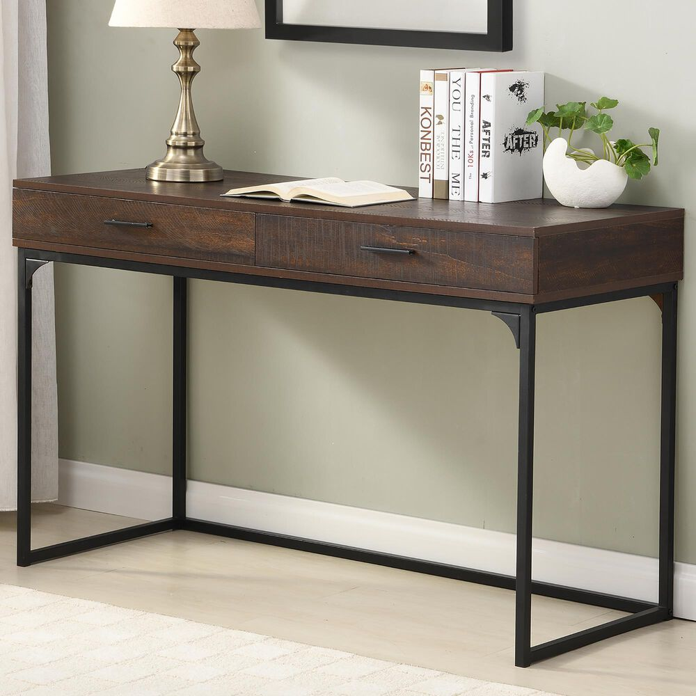 Carolina Chair and Table Horatio Computer Desk in Elm/Black, , large