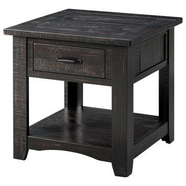 Martin Svensson Home Rustic End Table in Antique Black, , large