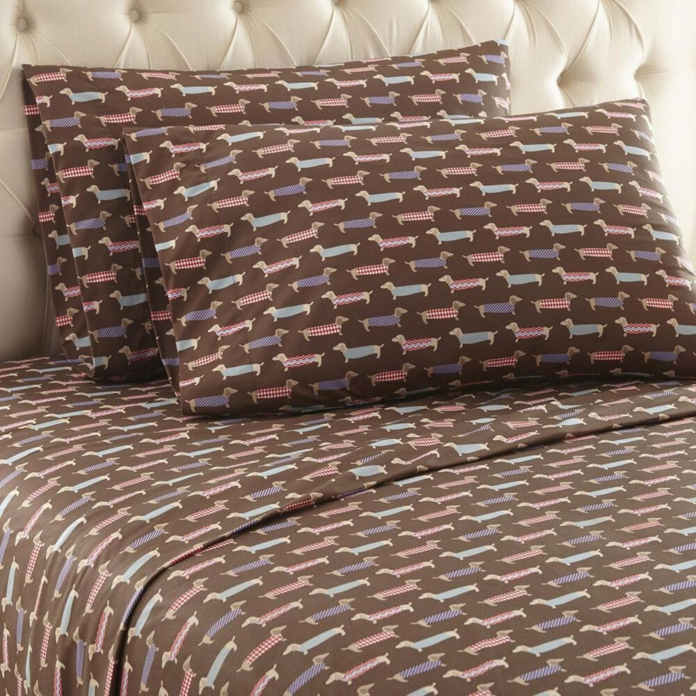 Shavel Home Products Micro Flannel 4-Piece Full Best In Show Sheet Set, , large