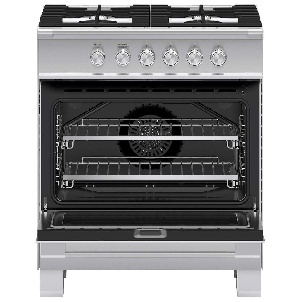 """Fisher and Paykel 30"""" Freestanding Classic Gas Range in Stainless Steel, , large"""