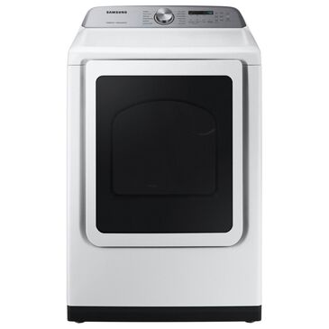 Samsung 7.4 Cu. Ft. Gas Dryer with Steam Sanitize in White, , large