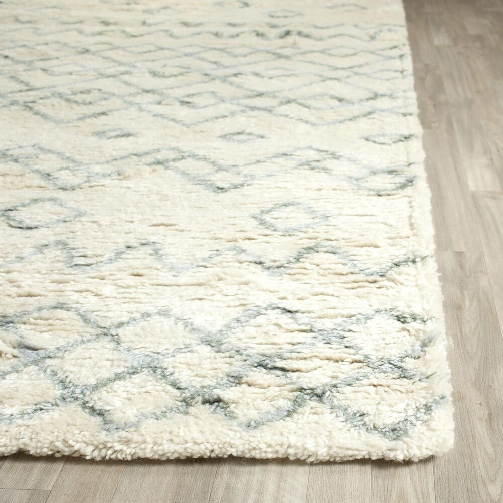 Safavieh Casablanca CSB806A 3' x 5' Ivory and Blue Area Rug, , large