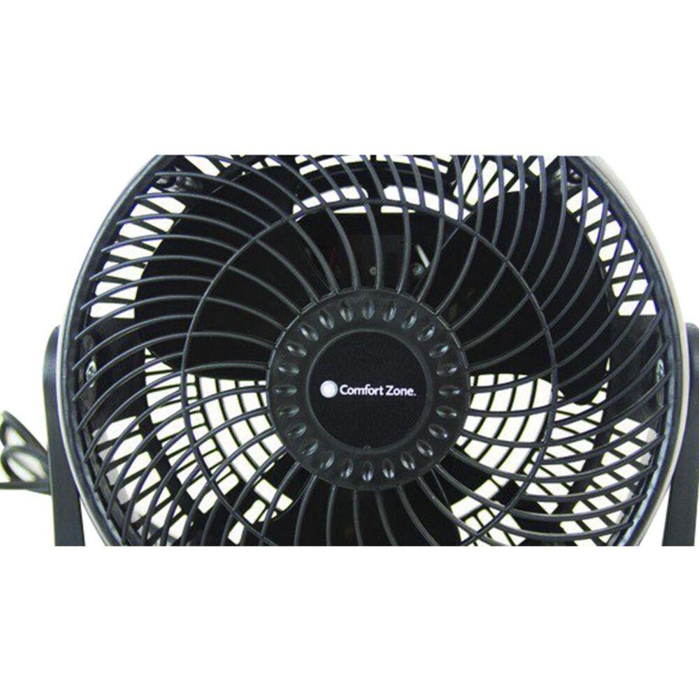 "Comfort Zone 8"" High Velocity Turbo Fan in Black , , large"