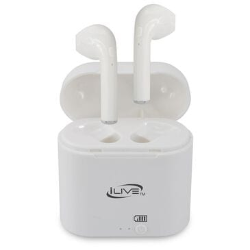iLive True Wireless Bluetooth Earbuds in White, White, large