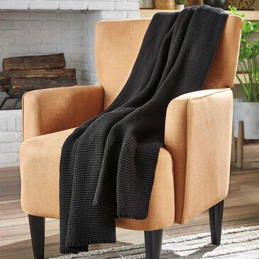Signature Design by Ashley Eleta Throw in Black, , large