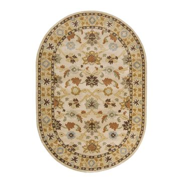 Surya Caesar CAE-1010 6' x 9' Oval Khaki, Tan, Brown and Gray Area Rugs, , large