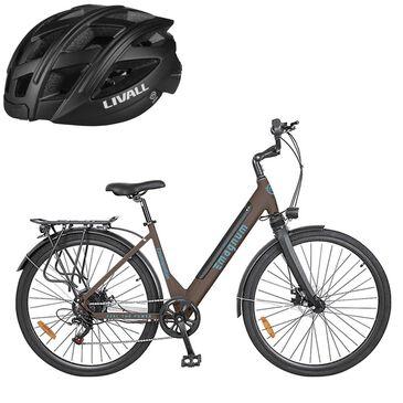 Magnum Cosmopolitan E-bike in Brown with (Free) Smart Bluetooth Black Bicycle Helmet, , large