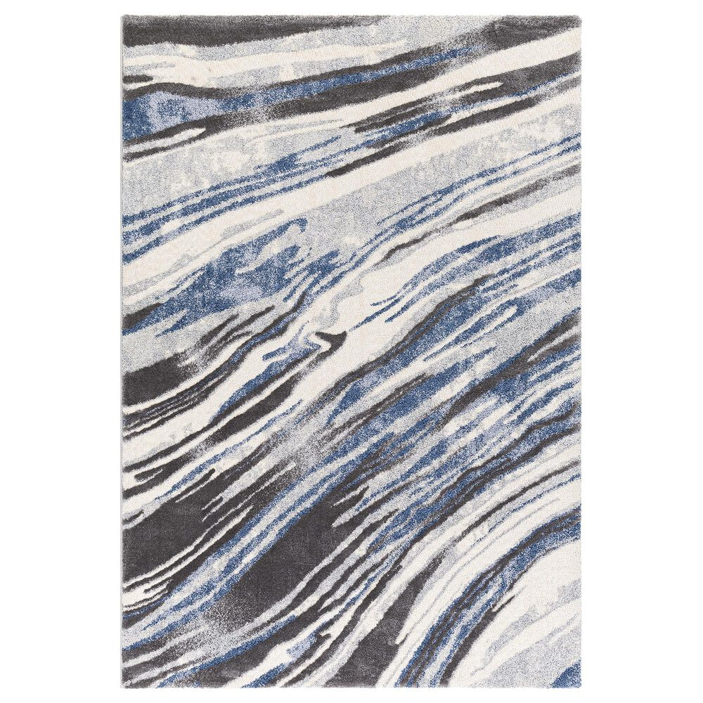 Surya Cielo 2' x 3' Charcoal, Gray, White and Navy Area Rug, , large