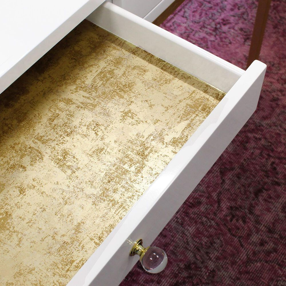 Tempaper 56 sq. ft. Distressed Gold Leaf Pearl Peel and Stick Wallpaper, , large
