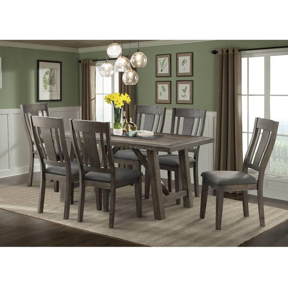 Mayberry Hill Cash 7-Piece Dining Set in Rustic Distressed Espresso, , large