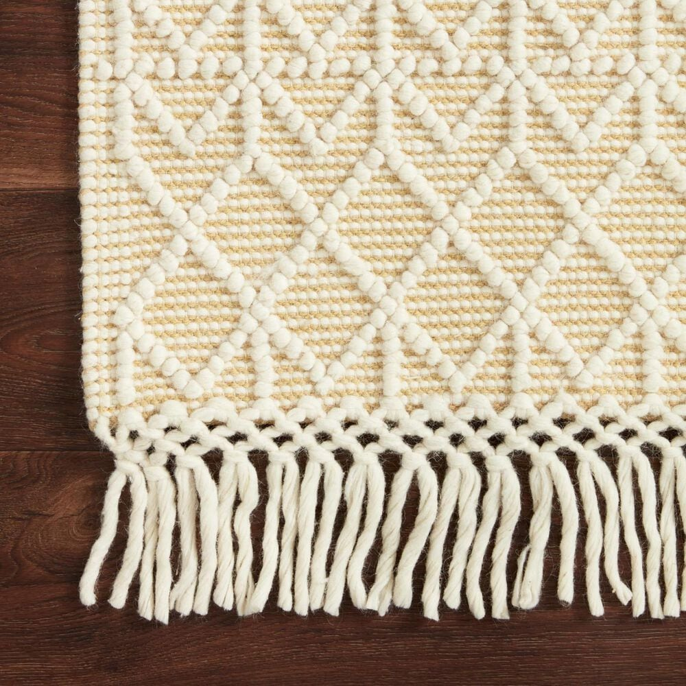 "Loloi II Noelle 2'6"" x 7'6"" Ivory and Gold Runner, , large"