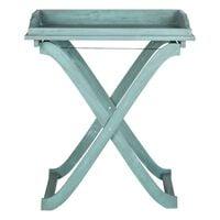 light blue folding table