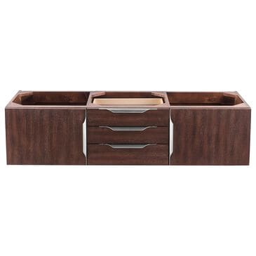 "James Martin Mercer Island 59"" Double Bathroom Vanity Cabinet in Coffee Oak with Brushed Nickel Hardware, , large"