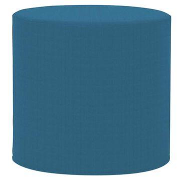 Howard Elliott Seascape Turquoise No Tip Cylinder Ottoman, , large
