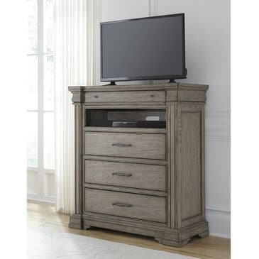 Chapel Hill Madison Ridge 4 Drawer Media Chest in Bluff Gray, , large