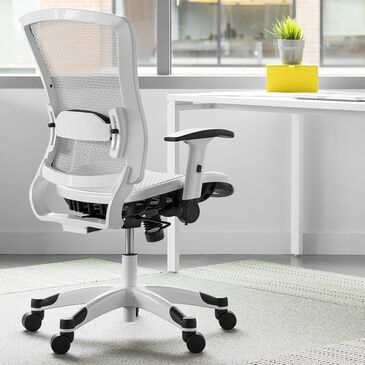 OSP Home Pulsar Managers Chair in White, , large