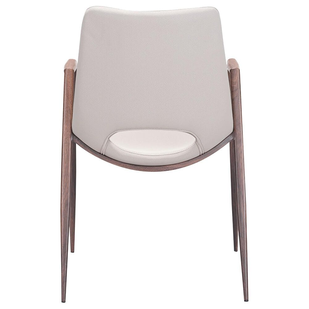 Zuo Modern Desi Dining Chair with Beige Cushion in Walnut, , large