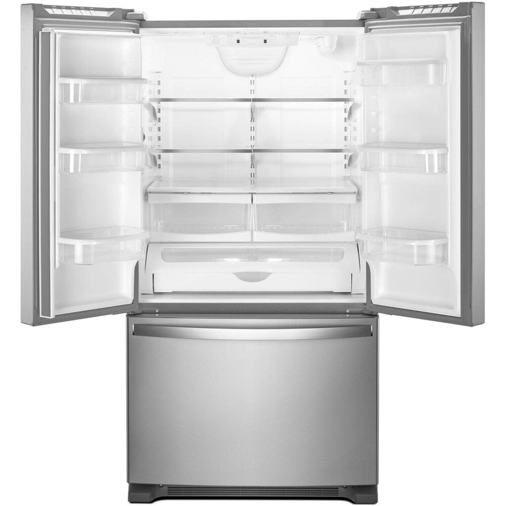 """Whirlpool 25 Cu. Ft. 36"""" Wide French Door Refrigerator with Interior Water Dispenser in Stainless Steel , , large"""