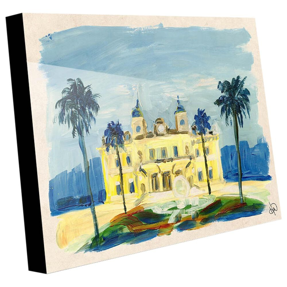 "Kathy Ireland Home ""Monte Carlo Casino"" 24"" x 36"" Acrylic Wall Art Print, , large"
