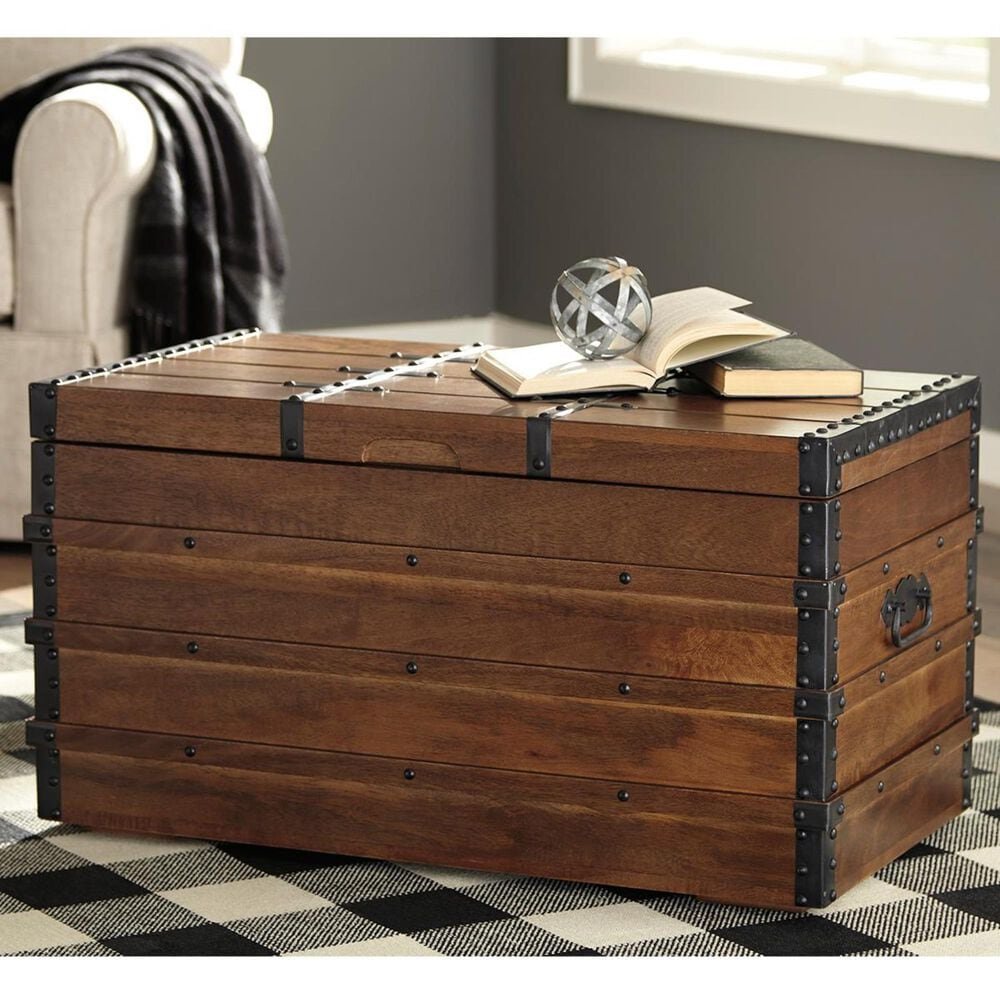 Signature Design by Ashley Kettleby Storage Trunk in Brown, , large