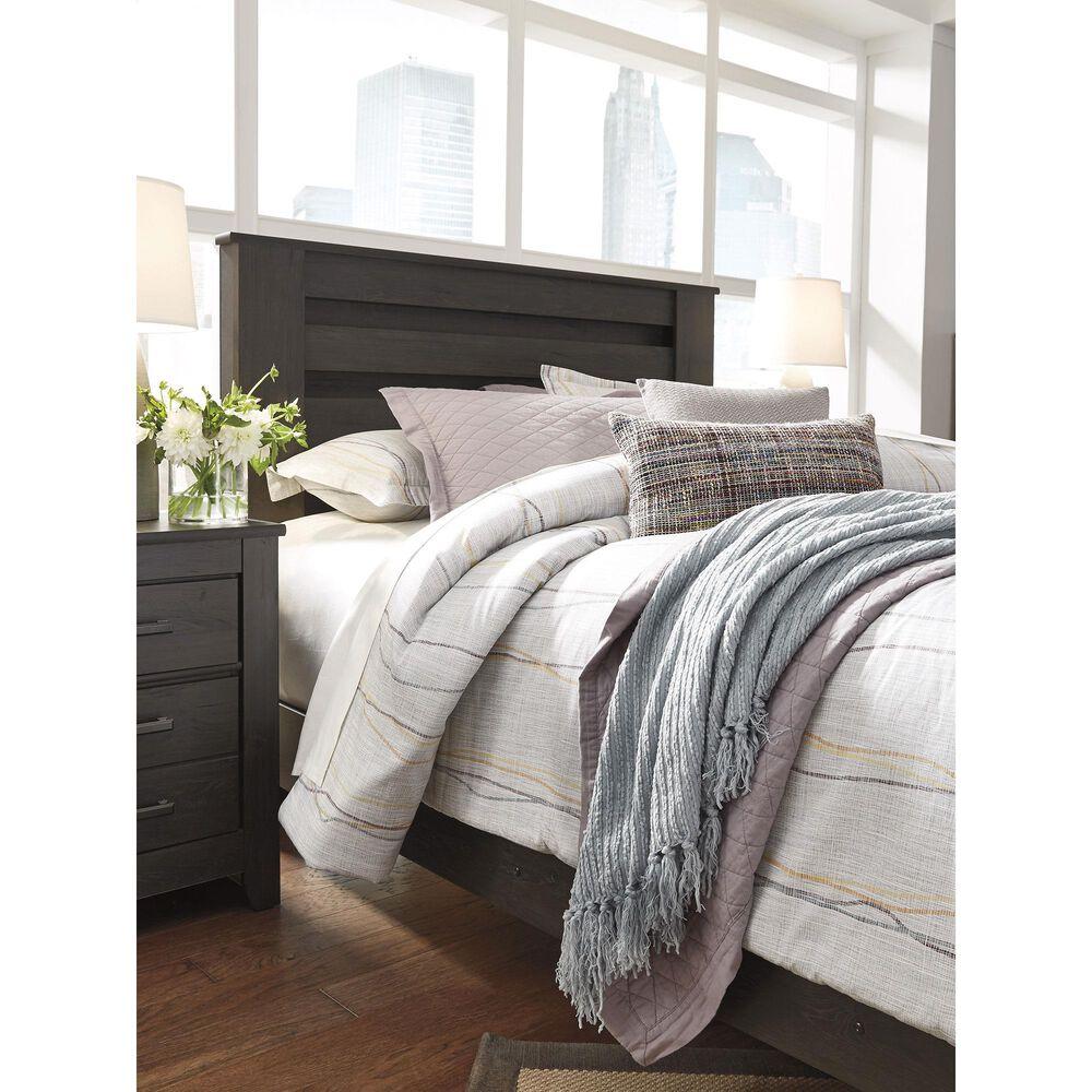 Signature Design by Ashley Brinxton 3 Piece Queen Bedroom Set in Dark Charcoal, , large