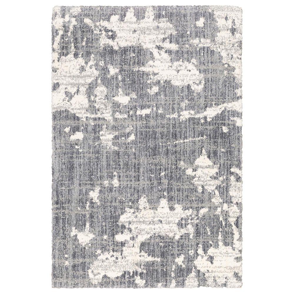 "Oriental Weavers Aspen Shag Distressed 003H9 7""10"" x 10""10"" Gray Area Rug, , large"