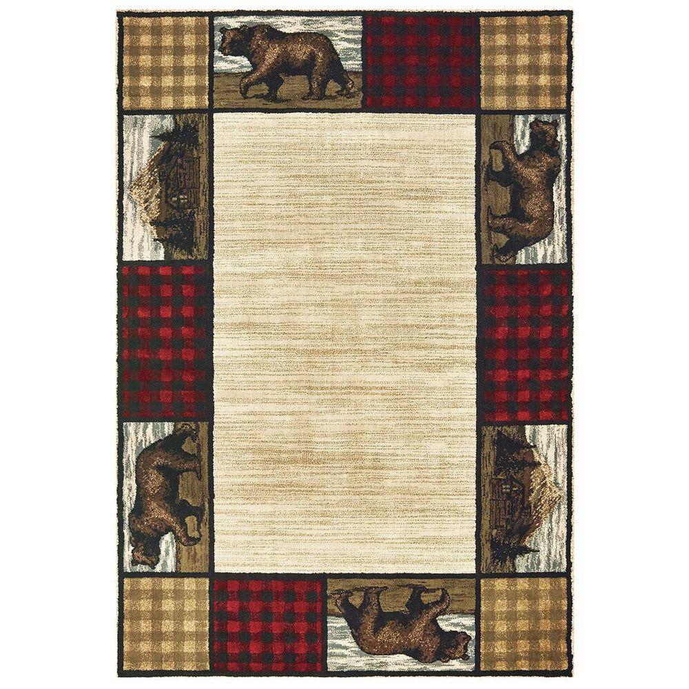 "Oriental Weavers Woodlands 9603C 1""10"" x 3"" Ivory Area Rug, , large"