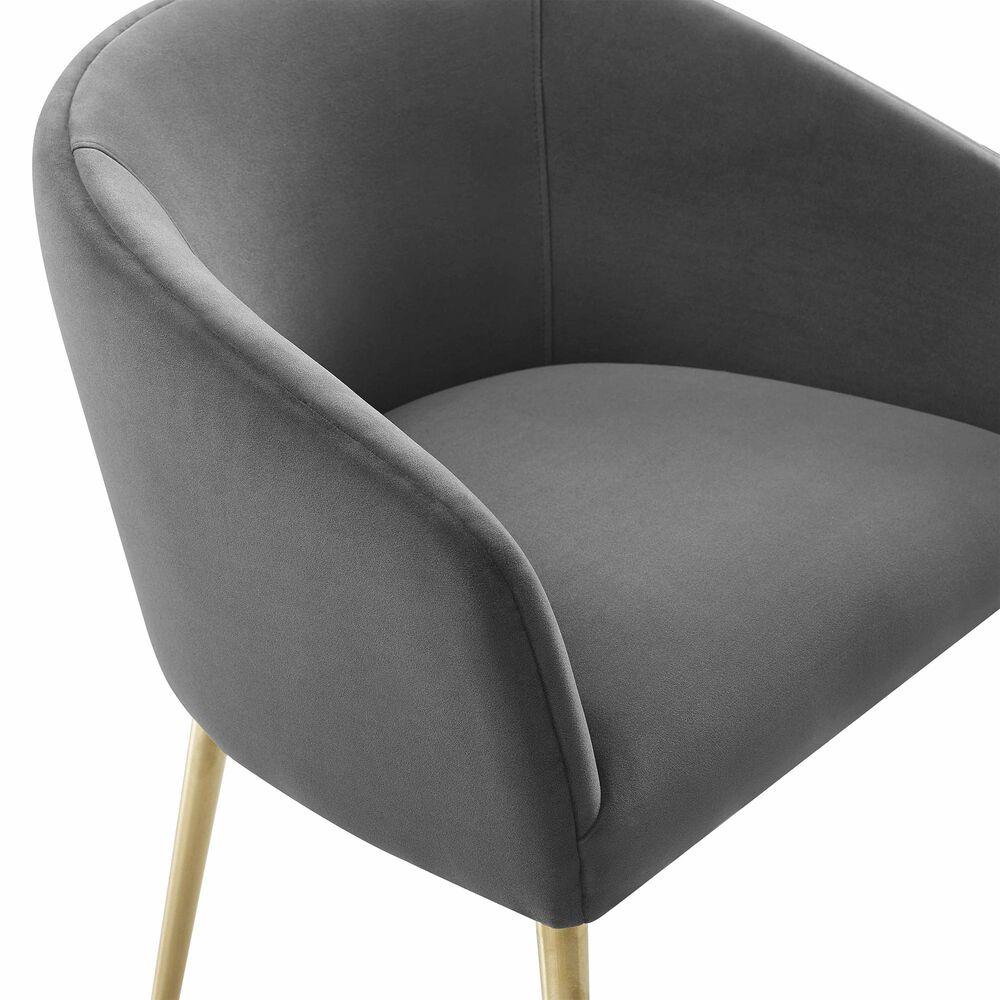 Tov Furniture Arya Dining Chair in Grey Velvet, , large