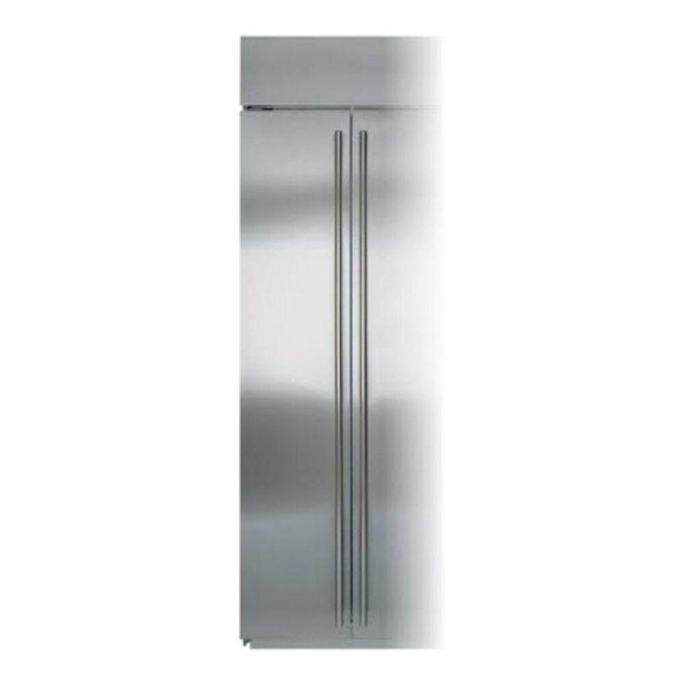 Sub Zero Left Freezer Door Panel in Stainless Steel with Pro Handle , , large