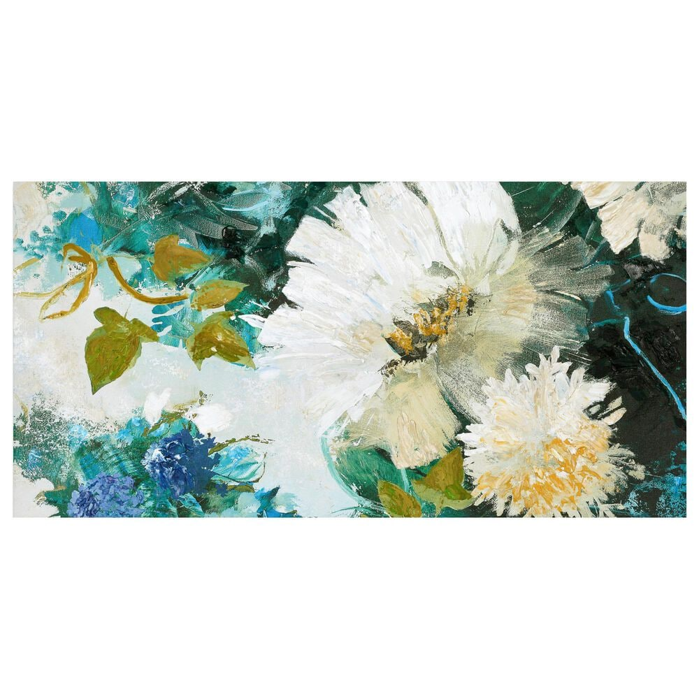 Courtside Market Teal Peacock 5-Piece Canvas Set, , large