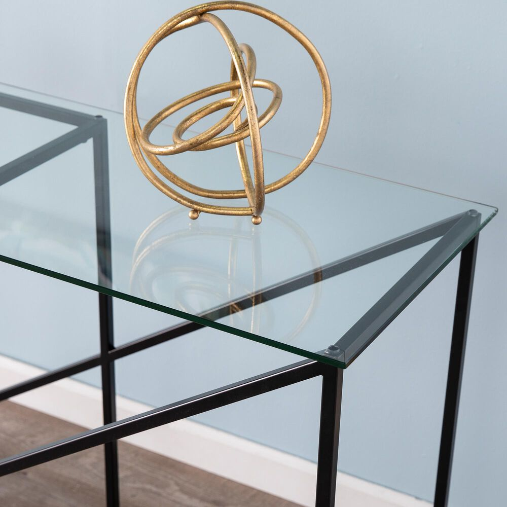 Southern Enterprises Ploxton Console Table in Black, , large