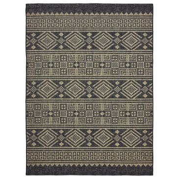 L&R Resources Sun Shower 8' x 10' Black and Brown Indoor/Outdoor Area Rug, , large
