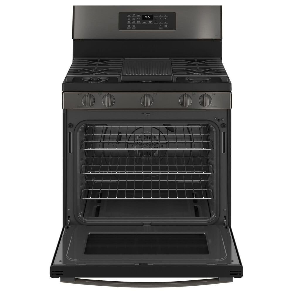 "GE Appliances 30"" Free-Standing Gas Range with Baking Drawer in Black Stainless Steel, , large"