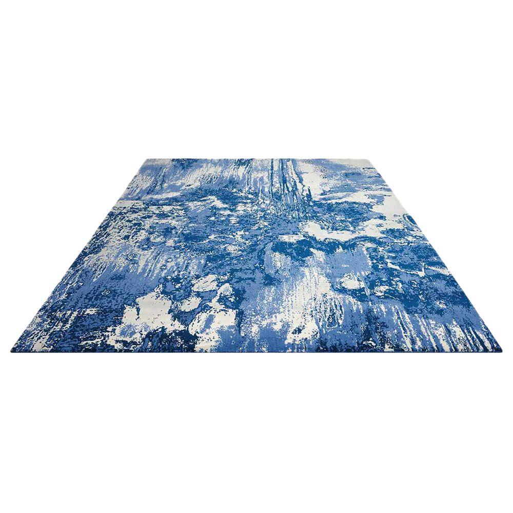 "Nourison Twilight TWI24 5'6"" x 8' Blue and Ivory Area Rug, , large"