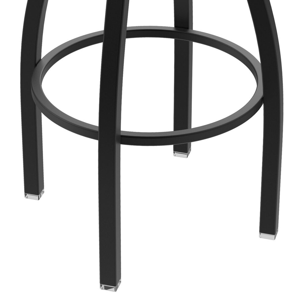 """Holland Bar Stool 802 Misha 25"""" Swivel Counter Stool with Black Wrinkle and Graph Cork Seat, , large"""