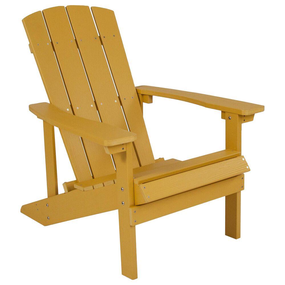 Flash Furniture Charlestown Adirondack Chair in Yellow, , large