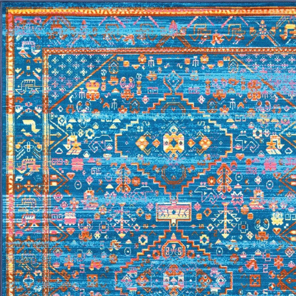 "nuLOOM Giza MCGZ43A 6'7"" x 9' Blue Area Rug, , large"