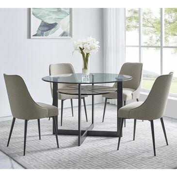 Crystal City Olson 5-Piece Dining Set in Black and Khaki, , large