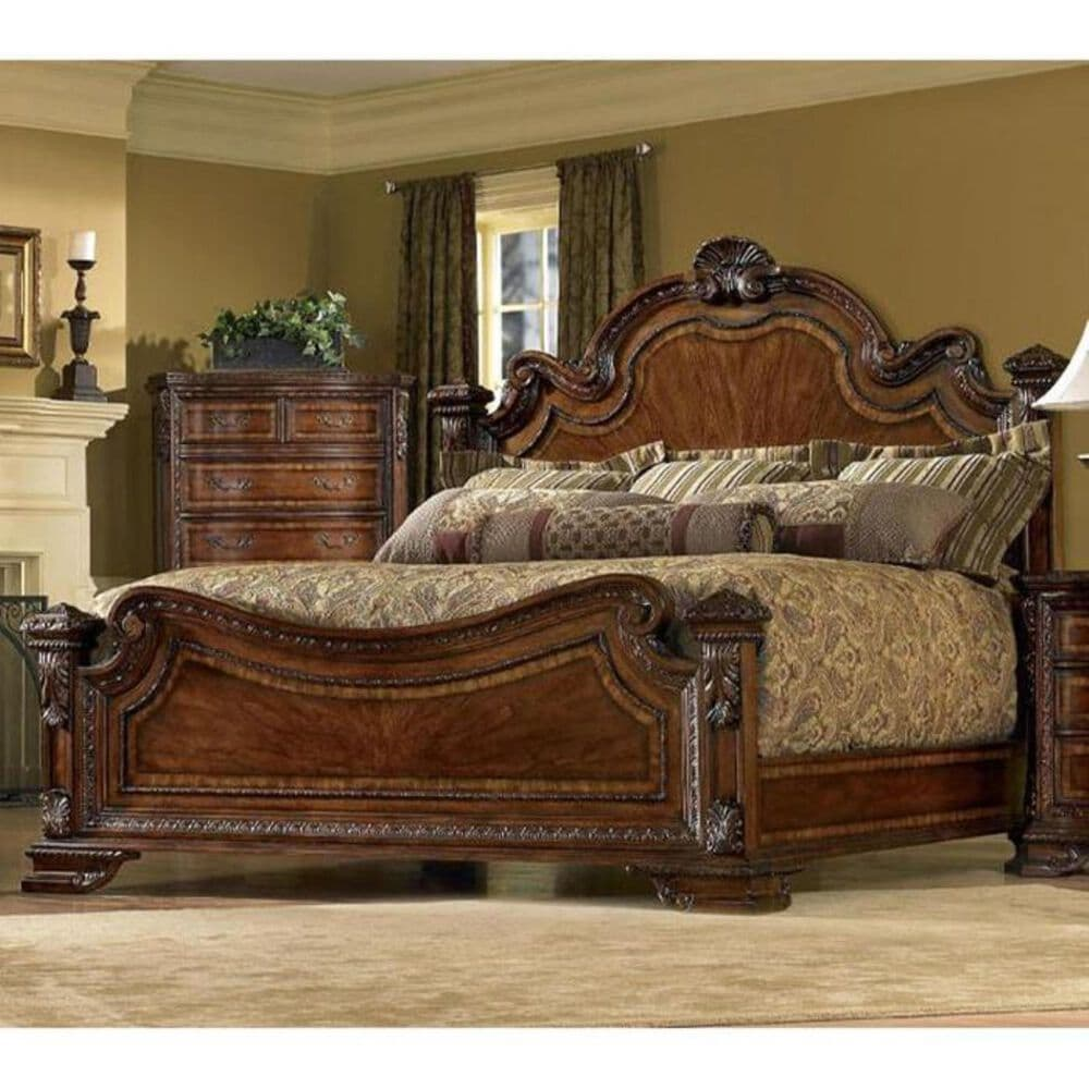 Nineteen37 Old World Queen Estate Bed in Cathedral Cherry, , large