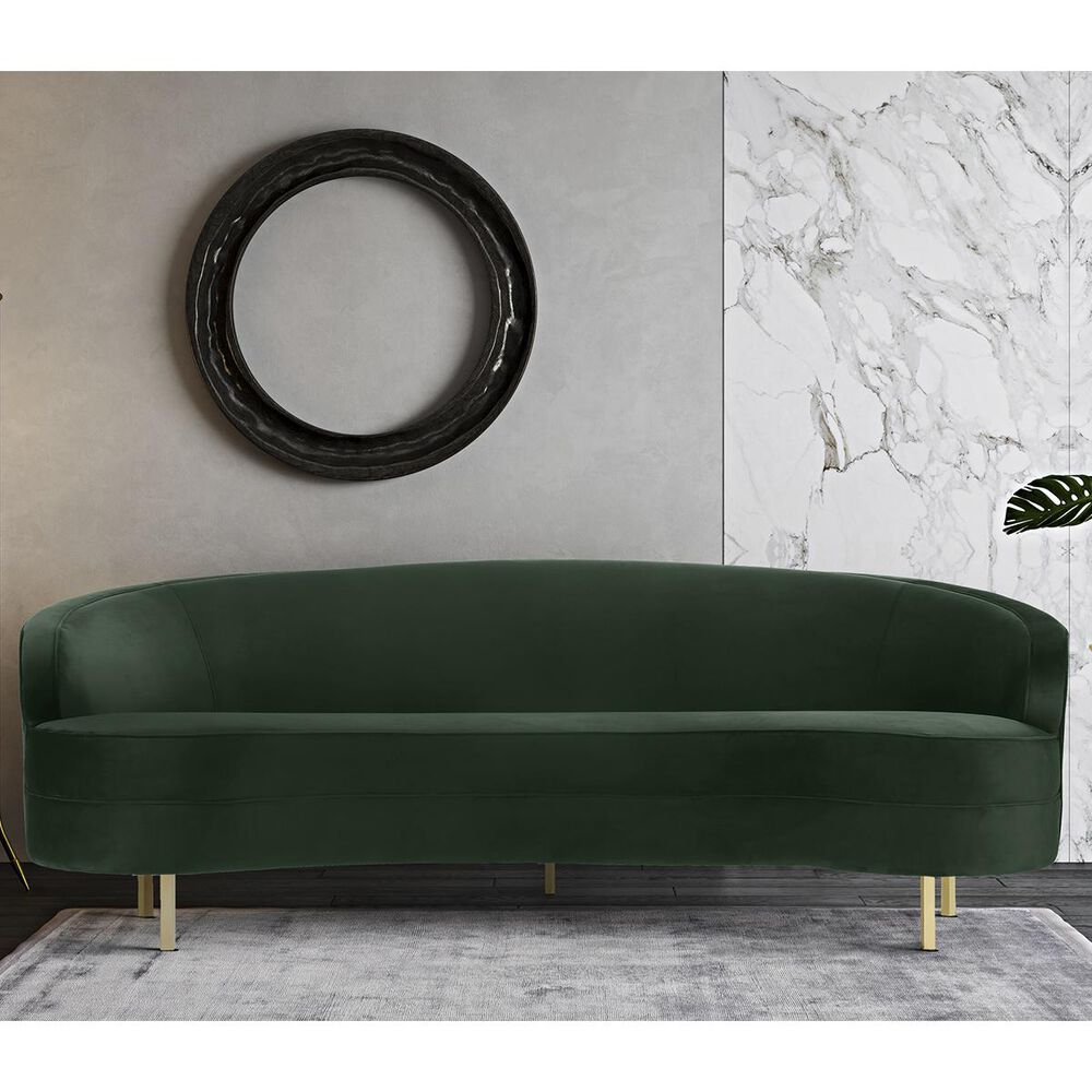 Tov Furniture Baila Velvet Sofa in Green, , large