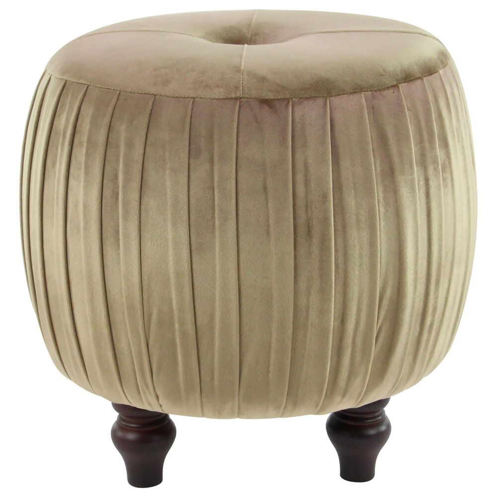 """Maple and Jade 18"""" x 17"""" Pouf in Tan, , large"""