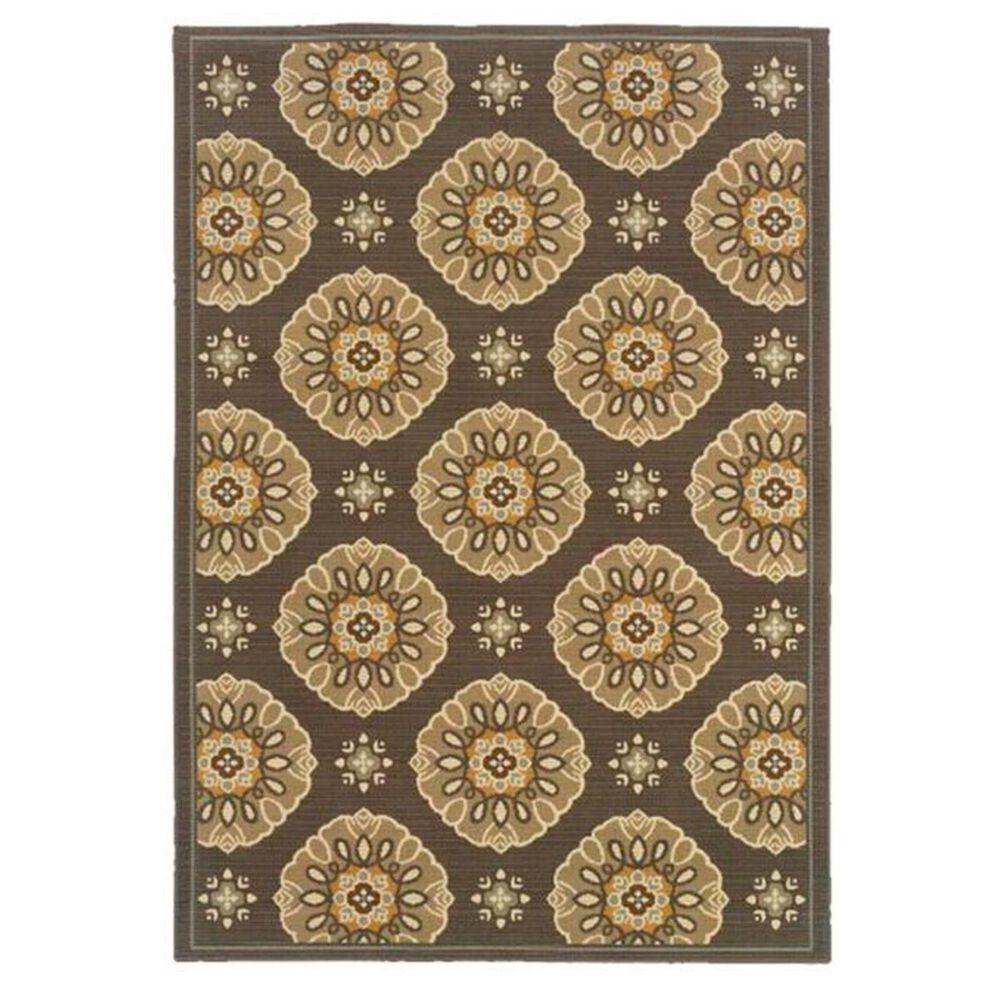 """Oriental Weavers Bali 5863N 7'10"""" Round Brown Area Rug, , large"""