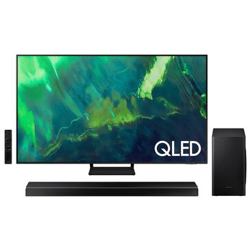 """Samsung 55"""" Q70A Class 4K QLED UHD - Smart TV with HW-Q60T 5.1-Channel Soundbar with Wireless Subwoofer and Acoustic Beam, , large"""