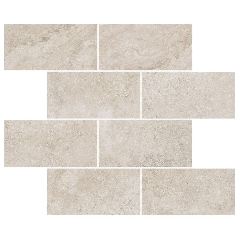 "Emser Daroca Nador 3"" x 6"" on 12"" x 12"" Porcelain Mosaic Sheet, , large"