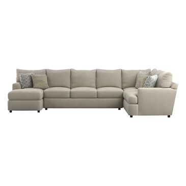 Klaussner Oliver 3-Piece Right Facing Sectional in Tina Oyster, , large