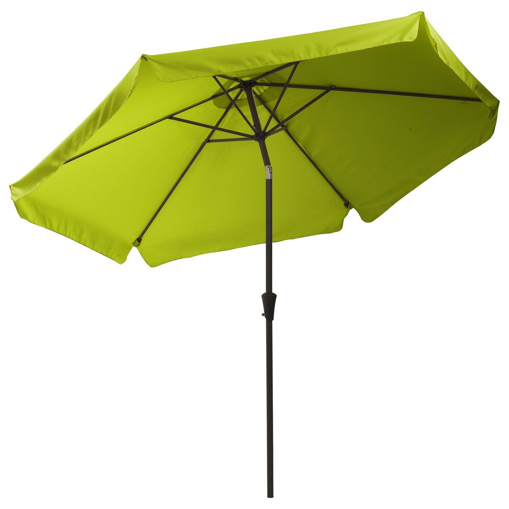 CorLiving 10' Round Tilting Patio Umbrella in Lime Green, , large