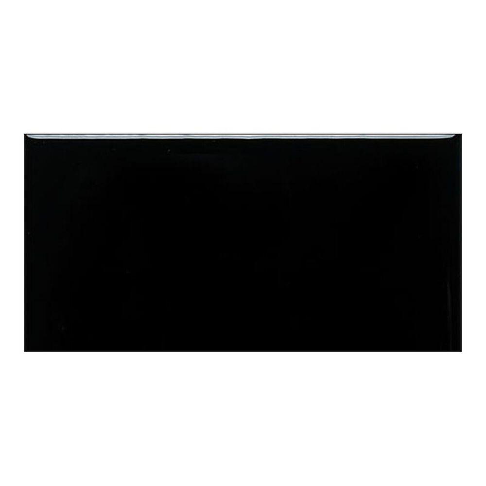 """Dal-Tile Rittenhouse Square Matte Black 3"""" x 6"""" Ceramic Tile, , large"""