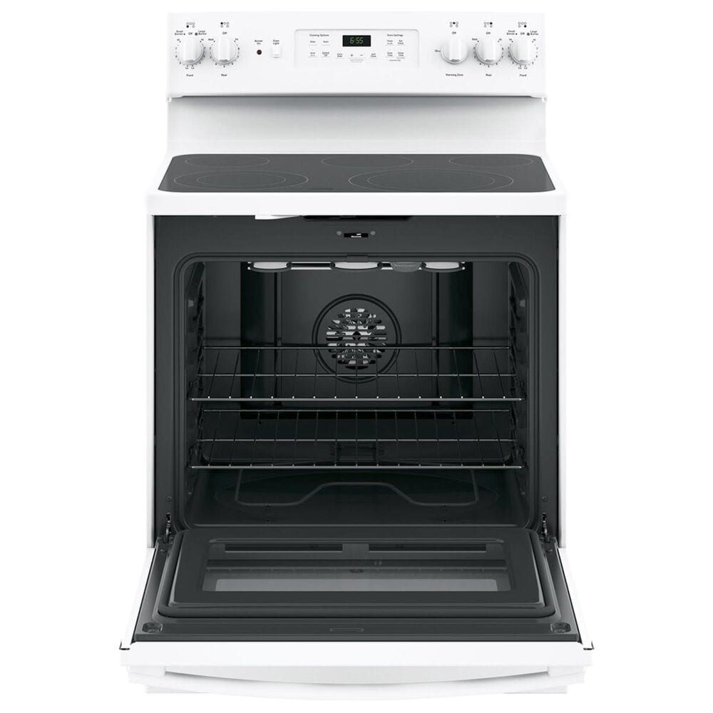 """GE Appliances 30"""" Free-Standing Electric Convection Range in White, , large"""